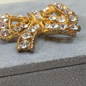 Vintage Jewelry - Vintage 50s Eisenberg Rhinestone Bow Brooch